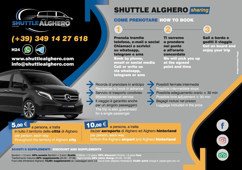 Shuttle Alghero Locandina back